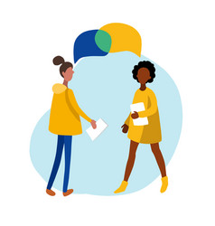 flat infographics of meeting women vector image