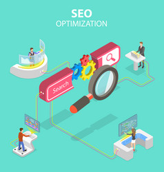 flat isometric concept search engine vector image