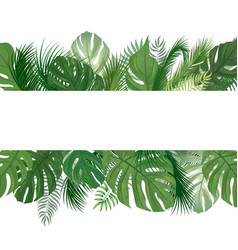 Floral pattern tropical palm tree leaves vector