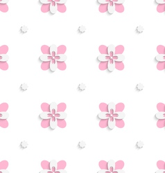Floristic simple pink tile ornament vector