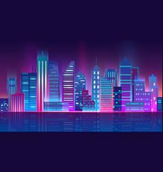 futuristic megapolis vector image