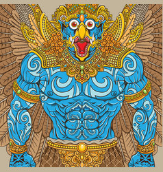 Garuda mythology vector