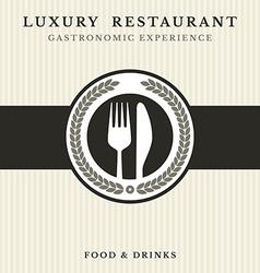 Gastronomy - Restaurant symbol vector image
