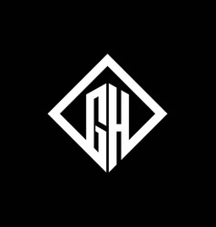 gh logo monogram with square rotate style design vector image