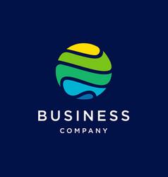 Global tech icon logo design vector