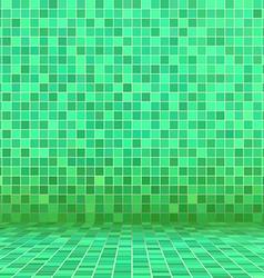 green swimming pool ceramic vector image