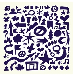 Hand drawn doodle objects vector image