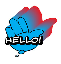 Hello speech bubble colorful emotional icon vector