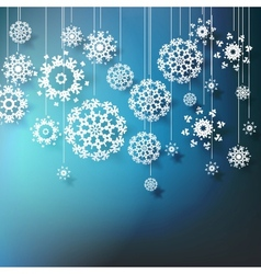 High definition snowflakes on blue EPS 10 vector image