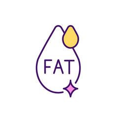 High-fat food rgb color icon vector