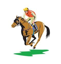 Horse racing equestrian retro vector