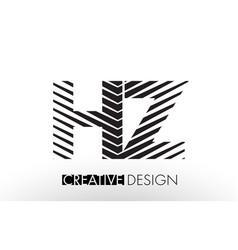 hz h z lines letter design with creative elegant vector image