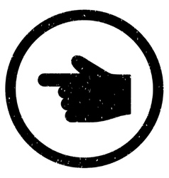 Index Finger Left Direction Icon Rubber Stamp vector