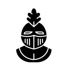 knight helmet glyph icon vector image