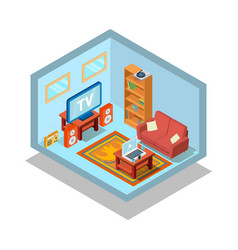 Lodging concept banner isometric style vector
