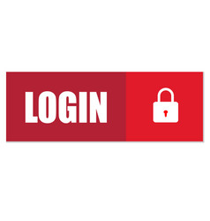 login button login icon on white background flat vector image