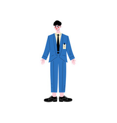 male hotel manager or administrator hotel staff vector image