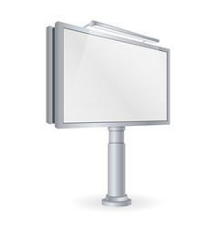 Mockup for your advertisement blank big billboard vector