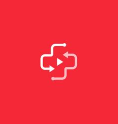 online medicine telehealth logo medical vector image