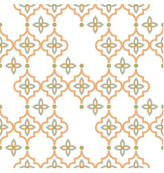 Oriental tile disrupted seamless pattern arabic vector