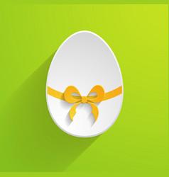 Paper Easter egg vector