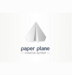 paper plane creative symbol concept letter vector image