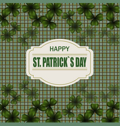 Patrick s day image translucent leaf clover from vector