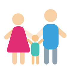 people silhouette happy family cartoon and vector image