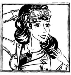 Pilot portrait vector image