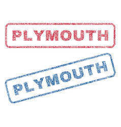 Plymouth textile stamps vector
