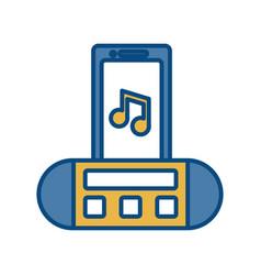 portable sound speaker icon vector image