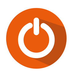 Power switch button icon vector