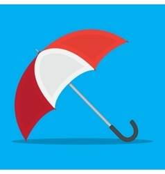red white umbrella icon vector image