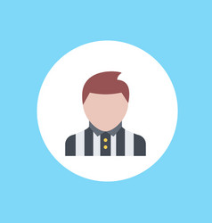 referee icon sign symbol vector image