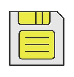Save button color icon vector