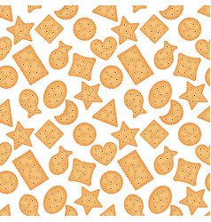seamless pattern cracker chips different shapes vector image