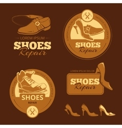 shoes repair vector image