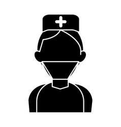 Silhouette surgeon doctor wearing clothes medical vector