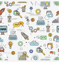 social media marketing pattern vector image