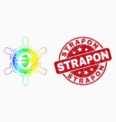 spectrum pixel euro people company icon and vector image