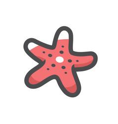 starfish sea star icon cartoon vector image