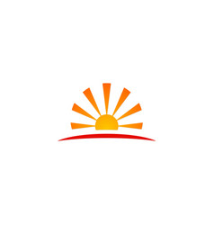 Sun solar energy icon logo vector
