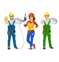 technical electrician handyman or mechanic vector image