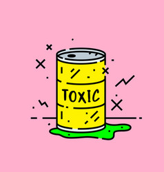 toxic barrel spill icon vector image