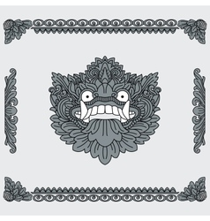 Traditional indonesian art head deity and vector