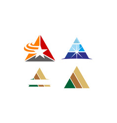 triangle solution template set vector image