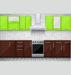 Typical modular kitchen vector