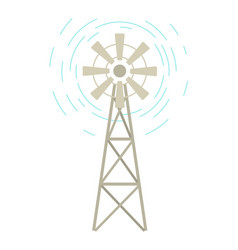 wind-farm equipment windmill object wind vector image