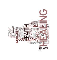 You can be a faith healer text background word vector