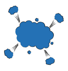 comic colored cloud pop art message speech cartoon vector image
